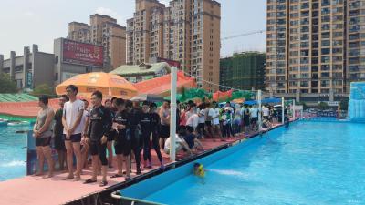 """""""全民健身日""""里的水上运动会"""