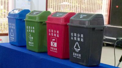 【创卫在行动】解放社区:垃圾分类齐动手 扮靓绿色好家园