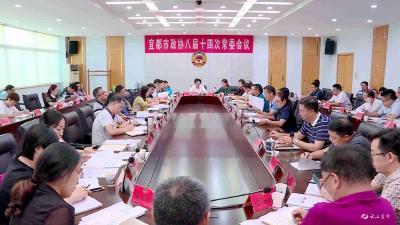 市政协召开八届十四次常委会议 专题协商教育高质量发展
