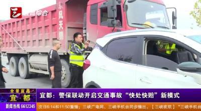 """【三峡广电】警保联动开启交通事故""""快处快赔""""新模式"""