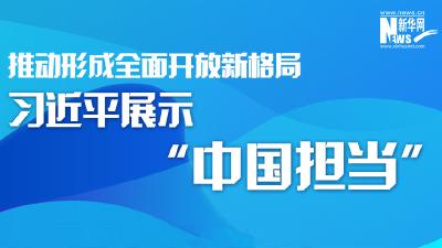 """推动形成全面开放新格局,习近平展示""""中国担当"""""""