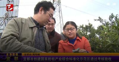 【三峡广电】宜都市创建国家柑桔产业综合标准化示范区通过考核验收