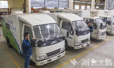 【湖北日报】新成果迎来开门红!一批高浓度臭氧水车整装待发,销往江苏、河南