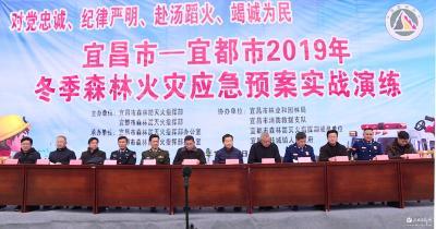 宜昌市冬季森林火灾应急预案实战演练在我市举行