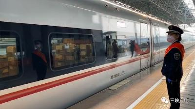 刚刚,宜昌东站发出首趟专列!