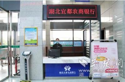 【荆楚网】湖北宜都农商银行入驻行政服务中心 群众办事更方便