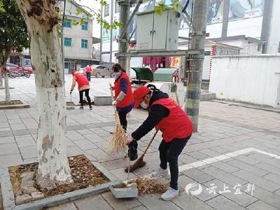 【防疫有我 爱卫同行】红花套镇:400余名志愿者走上街头开展爱卫行动