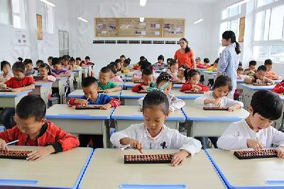 弘扬传统文化 珠算心算走进巴东校园(图)