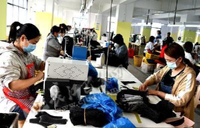 陈敏:返乡创业办工厂 稳岗就业加工忙(图)