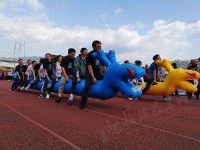 绽放团队风采 巴东县职工趣味运动会精彩不断