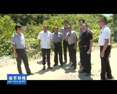 县政协视察农村集镇环境整治和大气污染防治工作