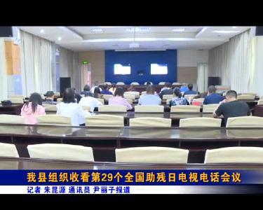 我县组织收看第29个全国助残日电视电话会议