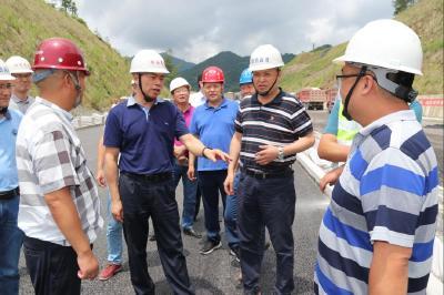 省交投集团领导督导宣鹤高速工程建设