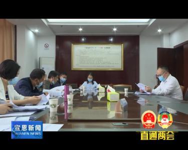 县十八届人大四次会议各代表团举行会议