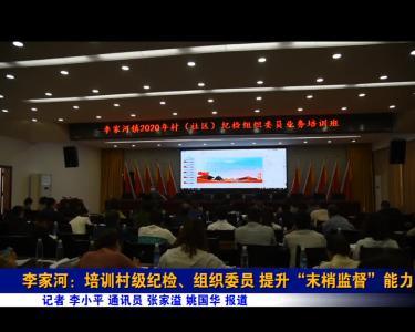 """李家河:培训村级纪检、组织委员 提升""""末梢监督""""能力"""