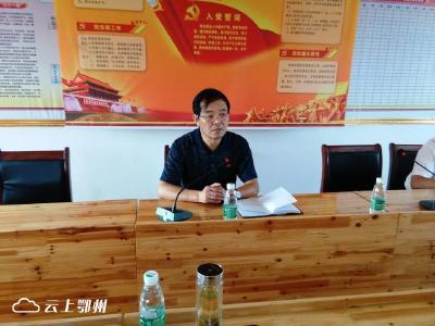 胡运星在官塘村参加支部主题党日