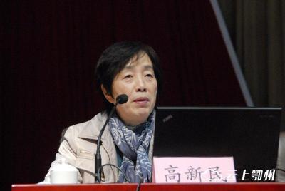 中央党校教授高新民在鄂州作十八届六中全会精神解读