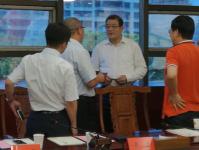 中京砺剑公司高层来鄂州考察     王立参加座谈