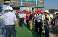 胡运星视察2017年市政重点工程建设及提案办理工作