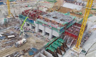 花马湖二站(燕矶泵站)进入主体浇筑阶段