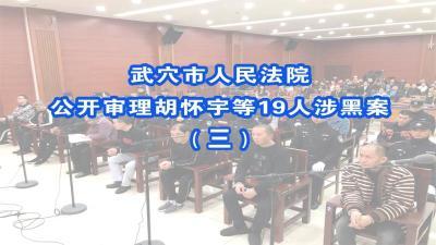 直播|武穴:胡怀宇等19人涉黑案开庭公审(三)