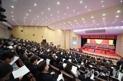 鄂州代表团举行第一次全体会议:推选王立为团长 刘海军严冀钢为副团长