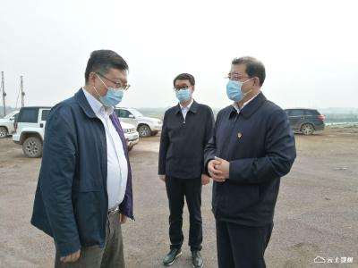 省发改委调研督导鄂州民用机场项目复工工作