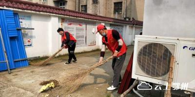 汀祖镇开展全民健康卫生大扫除和文明劝导志愿服务活动