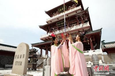 """王屋山飘落""""桃花雪"""" 俯瞰天坛极顶尤为壮观"""