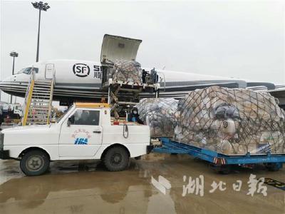 两架专机驰援武汉 32吨药品口罩抵汉