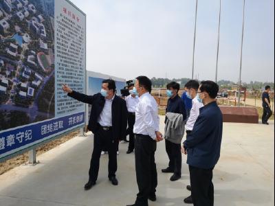 张爱国调研荆门技师学院整体搬迁项目