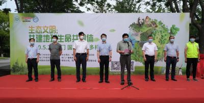 """十大濒危野生动物""""突现""""街头,荆门举办5.22国际生物多样性日环保画展"""