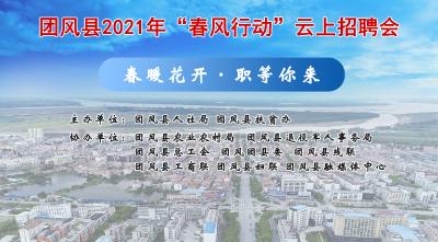 """直播   团风县2021年""""春风行动""""云上招聘会"""