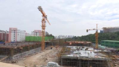 荆门中心城区首座装配式公共建筑首吊成功