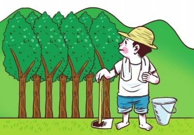 陈贵镇开展植树造林活动