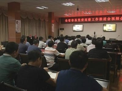 我市集中收听收看全省市县党委巡察工作推进会视频会议