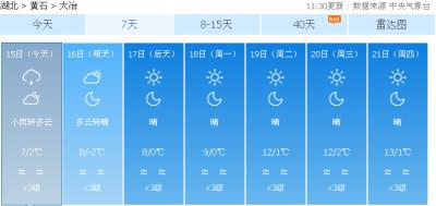 我市未来一周气温持续走低
