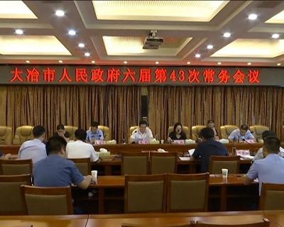 市政府召开第43次常务会议