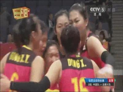 小组赛三连捷!世锦赛中国女排3:0战胜加拿大