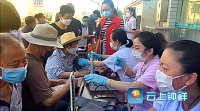 王家湾社区网格员协助开展大型义诊