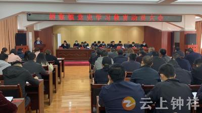 胡集镇召开全镇党史学习教育动员大会