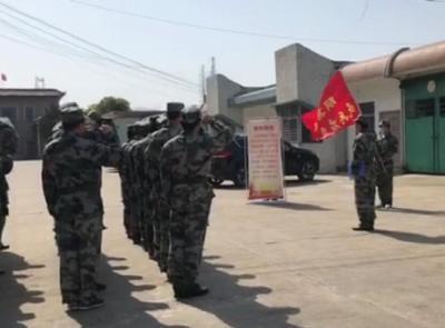 钟祥市胡集镇组织基干民兵开展入队训练