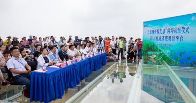 """黄石首个吉尼斯世界纪录称号 阳新天空之城""""天空之镜""""被认证为全球最大玻璃底观景平台"""