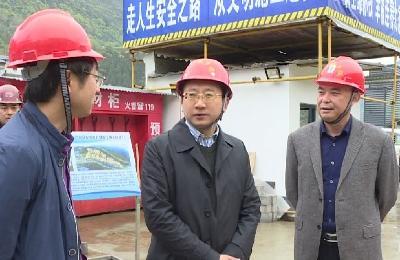 县长曹宏伟调研督导重点项目建设