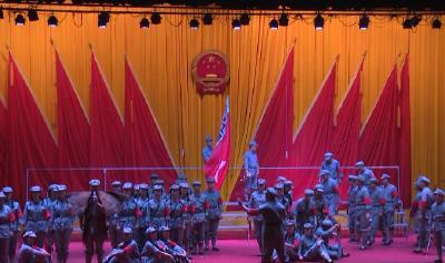 县直单位千名干部职工参加庆祝新中国成立70周年歌咏比赛活动