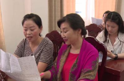 古夫镇70名干部职工参与庆祝新中国成立70周年歌咏比赛排练