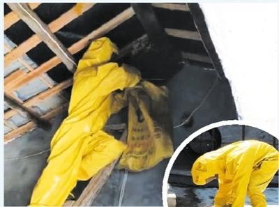 沙洋消防队员摘掉马蜂窝 为居民解忧