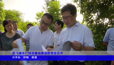 岳飞城水厂项目建设推进联席会召开