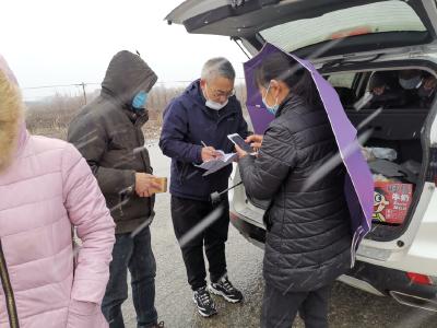 心系抗疫,风雪坚守——沙洋县文旅局志愿者服务在行动