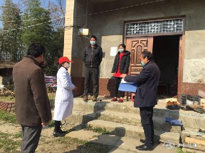 """沙洋县畜牧发展中心驻村工作队:全力当好""""五员"""",助力疫情防控"""